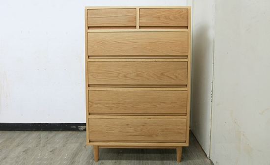White-oak retro drawer