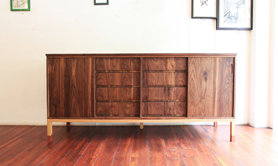 Walnut high-l drawer