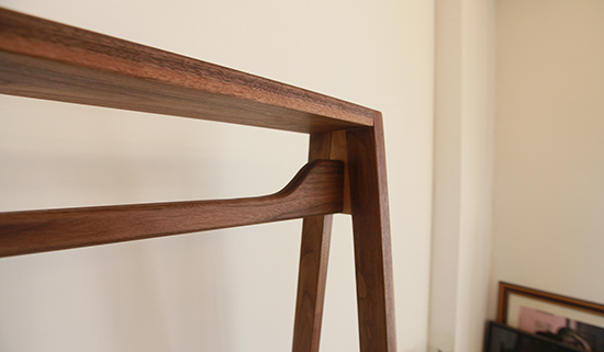 walnut A-hanger