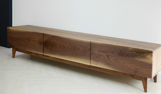 walnut low chest